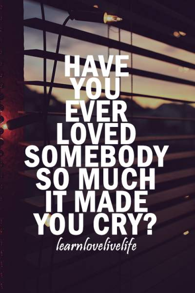 I guess you find out how much you loved someone when they've gone!